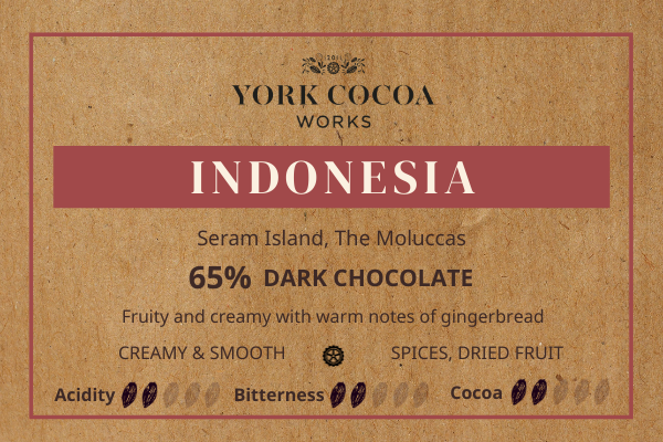 65% Indonesia Pure Chocolate - 30g Bar - Case of 20