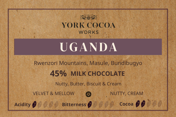 45% Uganda Milk Chocolate - 70g Bar - Case of 10