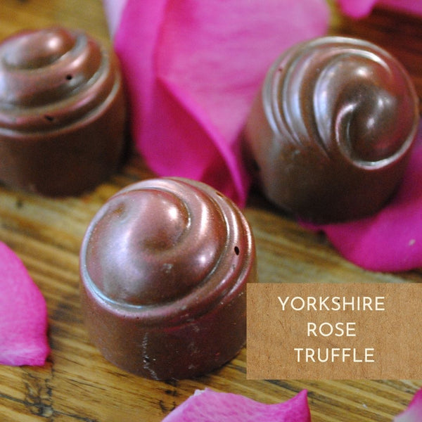 Yorkshire Rose Chocolate Truffles - Tray of 6