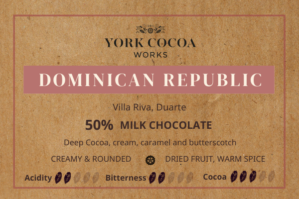 50% Dominican Republic Milk Chocolate - 30g Bar