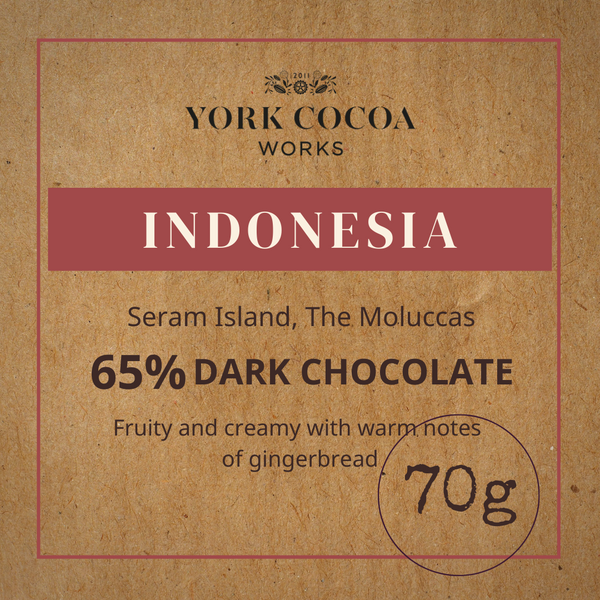 65% Indonesia Pure Chocolate - 70g Bar - Case of 10