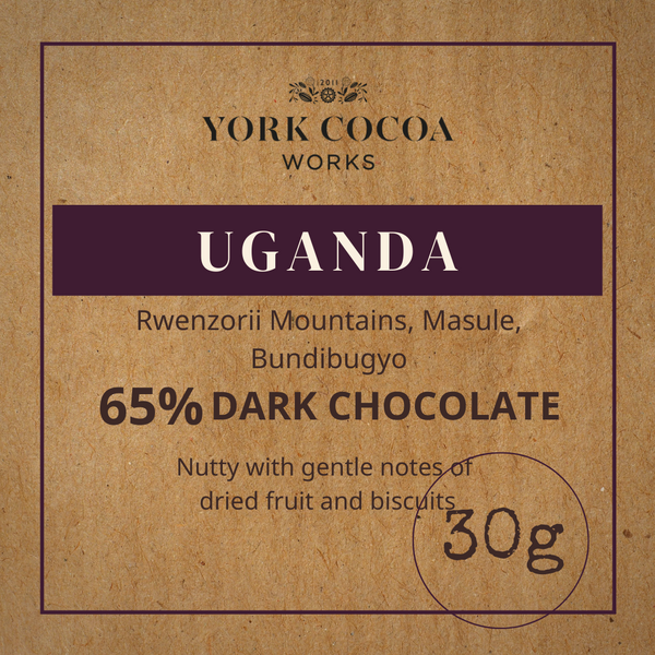 65% Uganda Dark Chocolate - 30g Bar - Case of 20