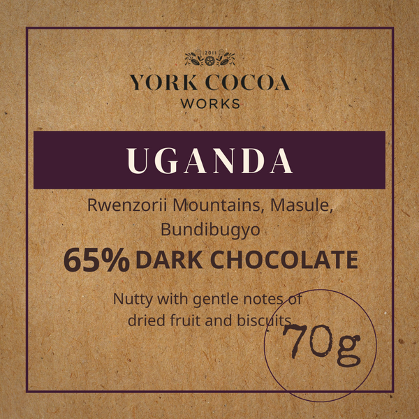 65% Uganda Dark Chocolate - 70g Bar - Case of 10