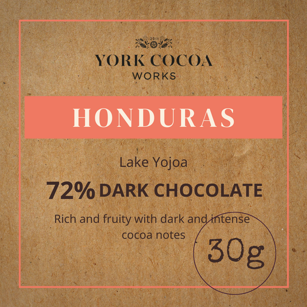 72% Honduras Dark Chocolate - 30g Bar