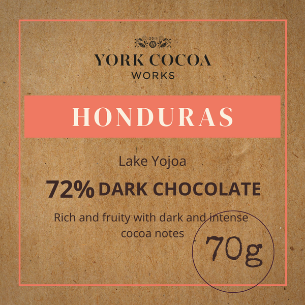 72% Honduras Dark Chocolate - 70g Bar - Case of 10