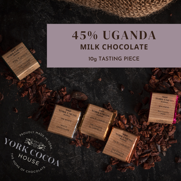 45% Uganda Milk Chocolate - 10g Piece - Box of 48