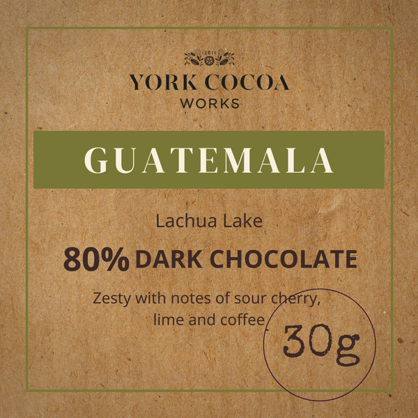 80% Guatemala Dark Chocolate - 30g Bar