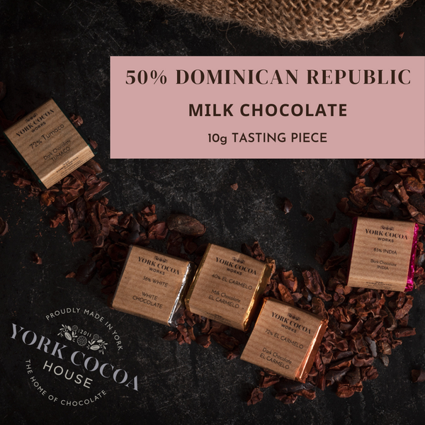50% Dominican Republic Milk Chocolate - 10g Piece - Box of 48