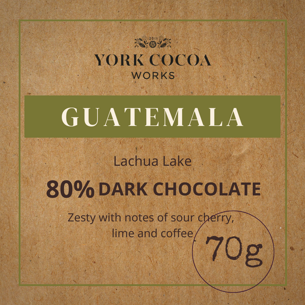 80% Guatemala Dark Chocolate - 70g Bar