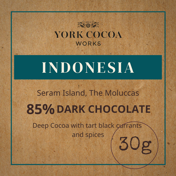 85% Indonesia Pure Chocolate - 30g Bar