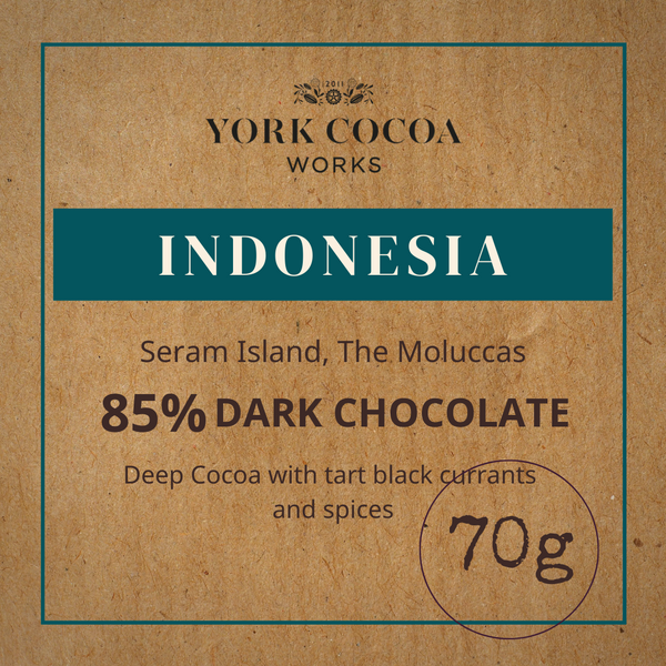 85% Indonesia Pure Chocolate - 70g Bar