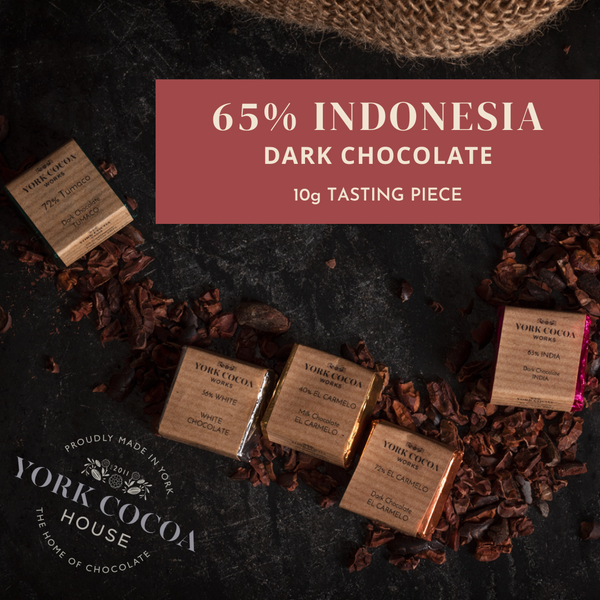 65% Indonesia Pure Chocolate - 10g Piece - Box of 48