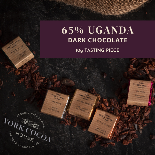65% Uganda Dark Chocolate - 10g Piece