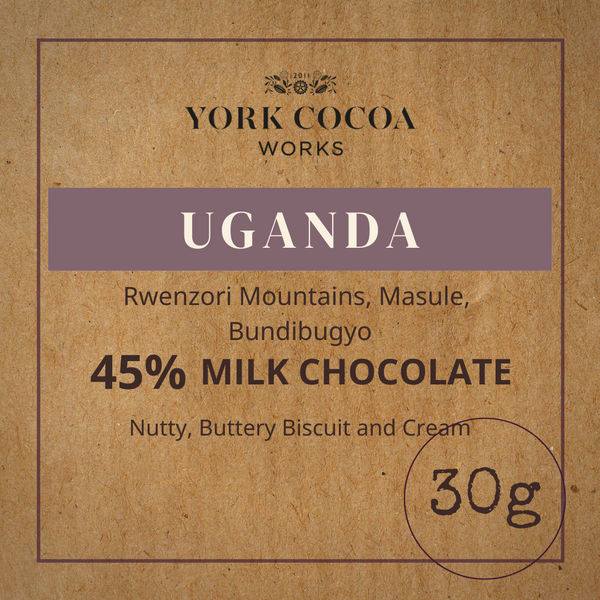 45% Uganda Milk Chocolate - 30g Bar