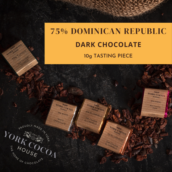 75% Dominican Republic Dark Chocolate - 10g Piece - Box of 48