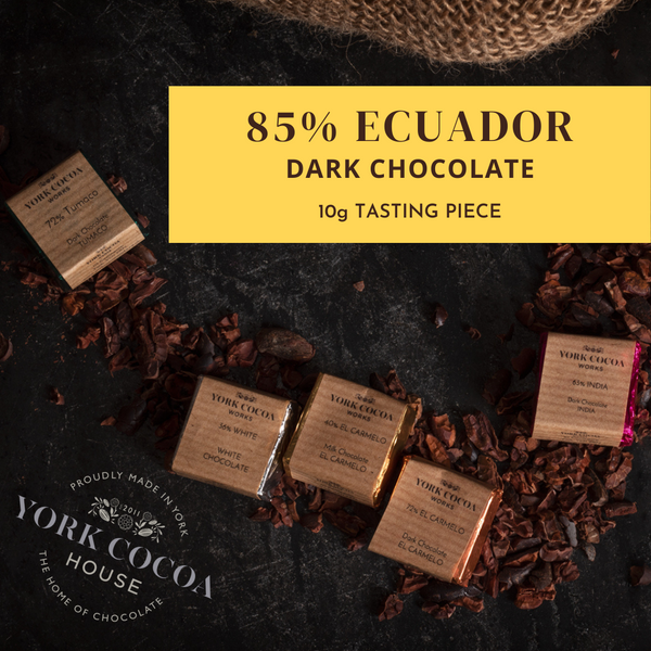 85% Ecuador Dark Chocolate - 10g Piece - Box of 48