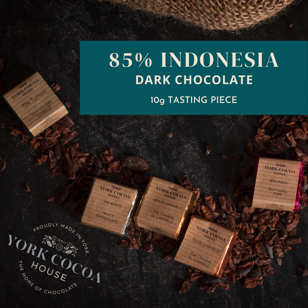 85% Indonesia Pure Chocolate - 10g Piece - Box of 48