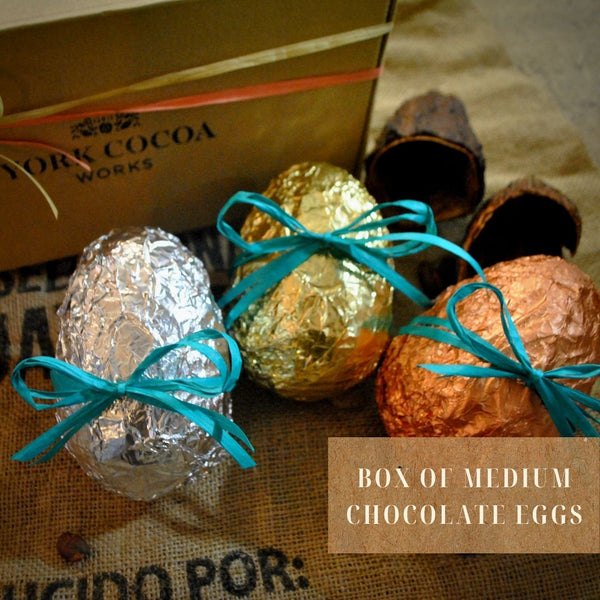 Box of Medium Chocolate Eggs