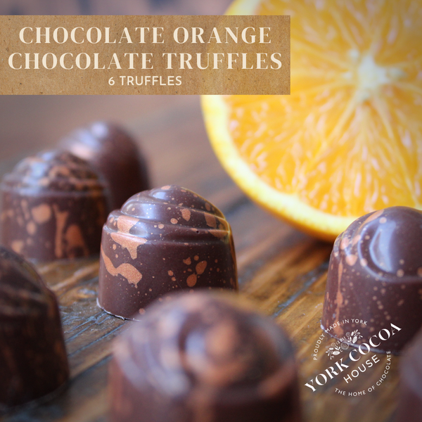 Chocolate Orange Chocolate Truffles - Tray of 6
