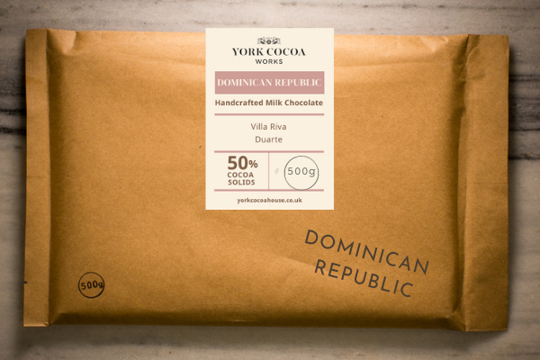 50% Dominican Republic Milk Chocolate - Large 500g Bar