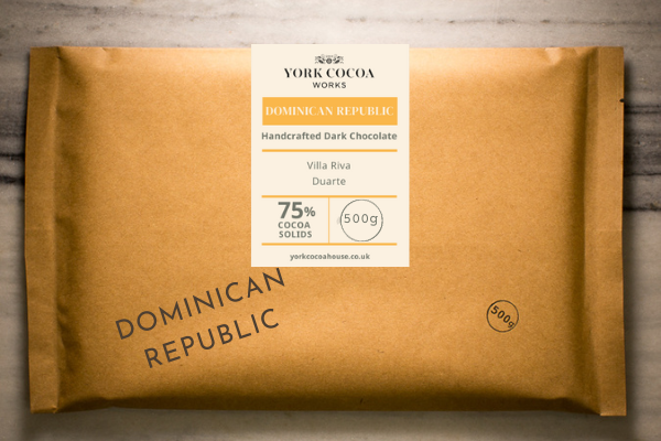 75% Dominican Republic Dark Chocolate - Large 500g Bar