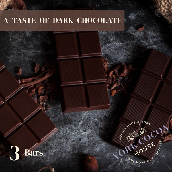 Dark Chocolate 3 Bar Pack - Case of 10 Sets