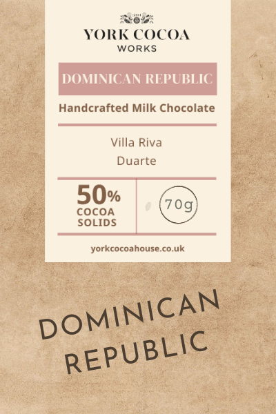 50% Dominican Republic Milk Chocolate - 70g Bar