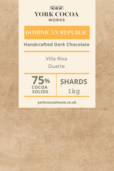 75% Dominican Republic Dark Chocolate - 1kg Chocolate Shards