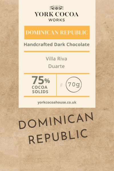 75% Dominican Republic Dark Chocolate - 70g Bar