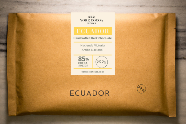 85% Ecuador Dark Chocolate - Large 500g Bar