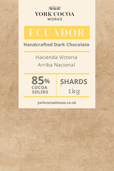 85% Ecuador Dark Chocolate - 1kg Chocolate Shards