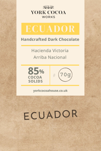85% Ecuador Dark Chocolate - 70g Bar