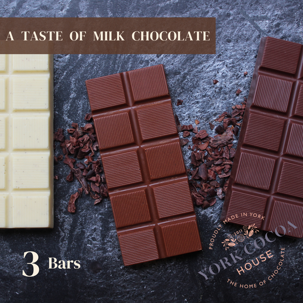 Milk Chocolate 3 Bar Pack - Case of 10 Sets
