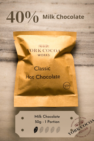 Milk Hot Chocolate - 50g Luxury Portion - Case of 20