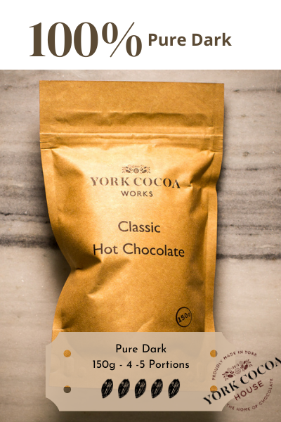 100% Completely Dark Hot Chocolate - 150g Packet - Case of 10