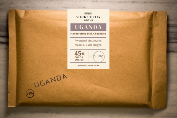 45% Uganda Milk Chocolate - Large 500g Bar