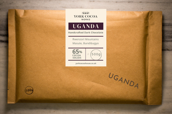 65% Uganda Dark Chocolate - Large 500g Bar