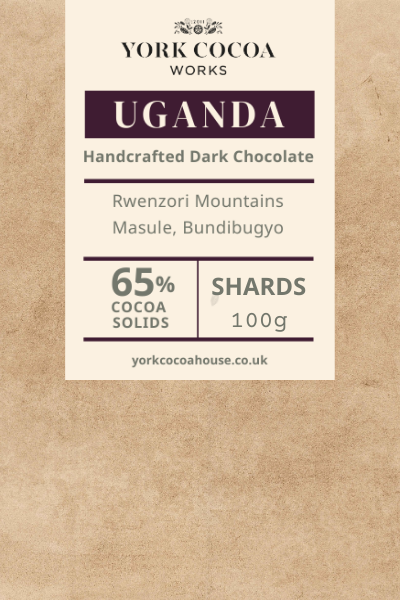 65% Uganda Dark Chocolate - 100g Chocolate Shards