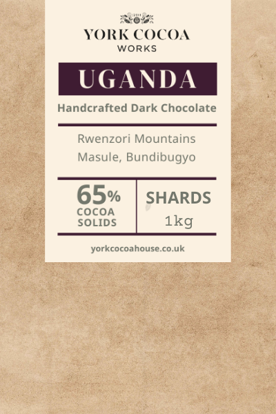 65% Uganda Dark Chocolate - 1kg Chocolate Shards