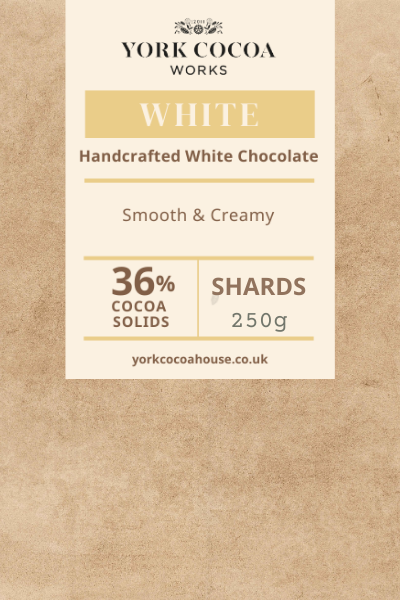 36% White Chocolate - 250g Chocolate Shards