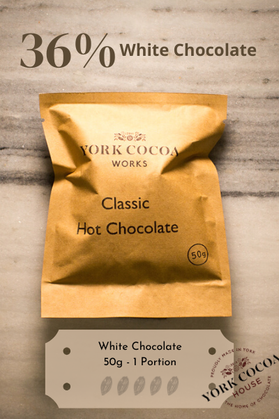White Hot Chocolate - 50g Luxury Portion - Case of 20