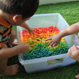 Rainbow pasta play set