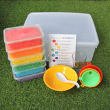Rainbow rice play set