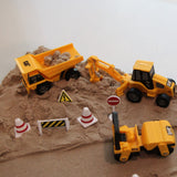 Construction zone kinetic sand play set - 2.5kg sand