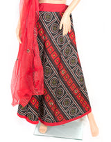 red and black lehenga