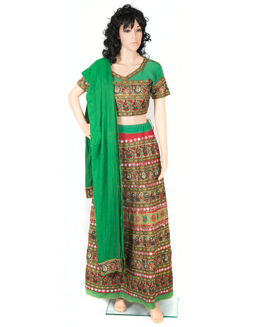 Amazing Lehenga Choli with Green Dupatta