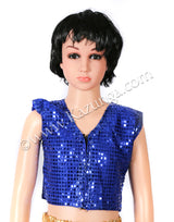 Kids Blue Shirt and Golden Trouser Dance Costume on Rent