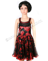 Kids Red and Black Frock Dance Costume on Rent