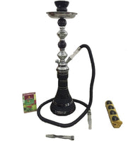 Black glass Hookah on Rent