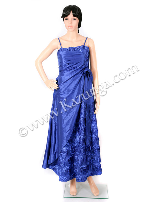 womens blue gown on rent